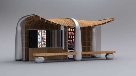 Bookworm Bus Shelters - Read While You Wait for Transit at the Magazine Kiosk Bus Stop