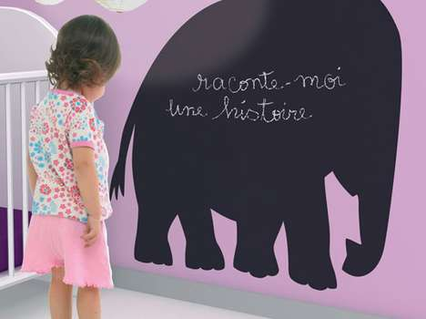 Cute Blackboard Decals - These Fun Coco Boheme Chalkboard Stickers Stick to the Basics