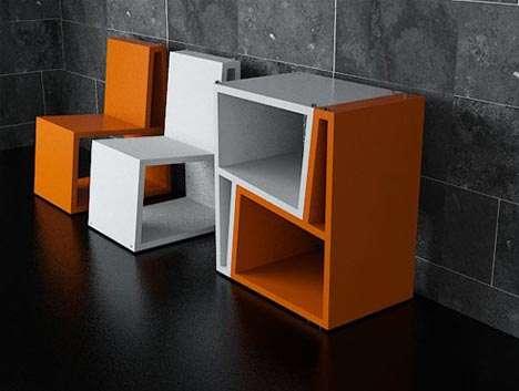 Geometric Jigsaw Seating