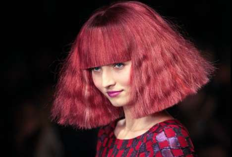 Triangular Tress Catwalks - Paul Costelloe AW11 Runway Features A-Line Fashions and A-Framed Hair