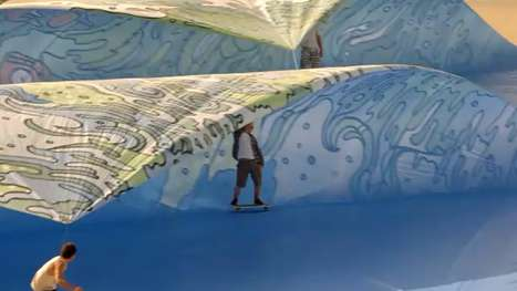 Tarp Surfing Ads - Soaring Simulated Surf Found in Mountain Dew Waves Commercial