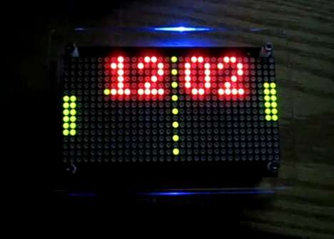The Wise DIY LED Pong Clock is Technologically Retro