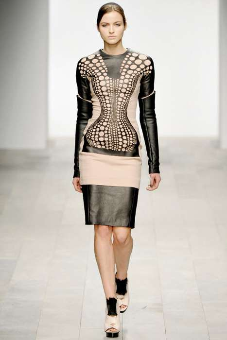 Hot Dotted Fashions - Polka-Dots Get Futuristic in David Koma's Fall Collection