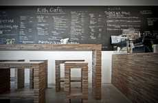 Plywood Furnished Eateries - Hjghers Kith Cafe Focuses on Simpler Things Such as Company