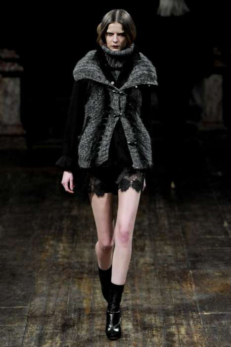 The Julien Macdonald Fall 2011 is Moody and Mysterious