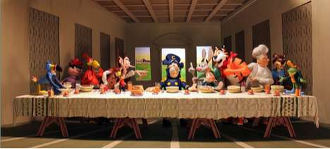 Brian Stuckey Creates a Last Supper Diagram With Cereal Mascots