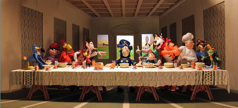Biblical Cartoon Breakfasts