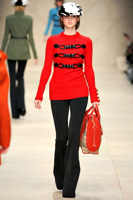 The Bright and Cheerful Burberry Prorsum Fall 2011 Collection