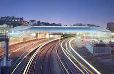 Spiraling Transit Stations - The Newport Station in Wales is a Futuristic Eco-Efficient Hub