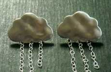 Cumulus Ear Accessories - These Rainy Day Cloud Earrings are Perfect for Weather Women