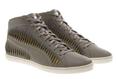 Warped Leather Sneakers