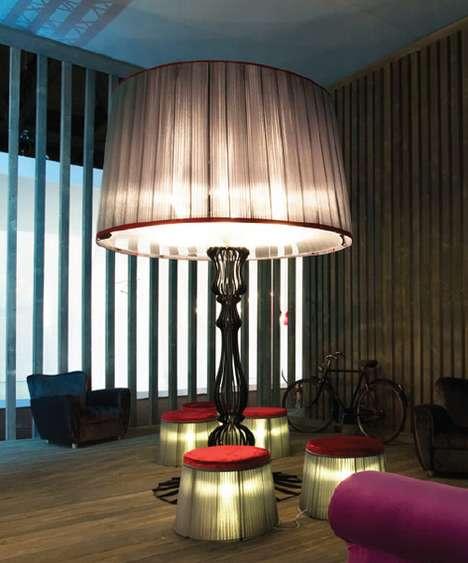 Oversized Lampshade Furnishing