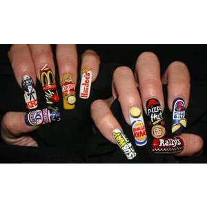 Nail Art Advertising - These Designs Feature Product Placement at Your Fingertips