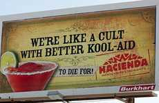 Cult-Mocking Ads - Hacienda Restaurant Stirs Up a Controversy with Kool-Aid Cult Billboards