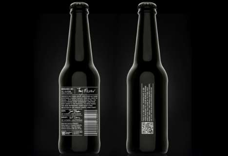 Elegant Ebony Beer Branding - Monteith's Single Source Lager Has the Look of Luxury