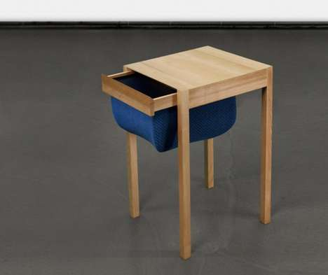 Textile Storage Tables - This Drawer by Holm Giessler & Jennifer Heimann Mimics a Sewing Table