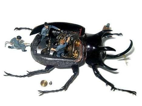 Dead Beetle Dioramas
