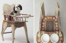 Pampered Pet Accessories - The $900 Dog High Chair by Rockstar Puppy is for Discerning Dog Owners