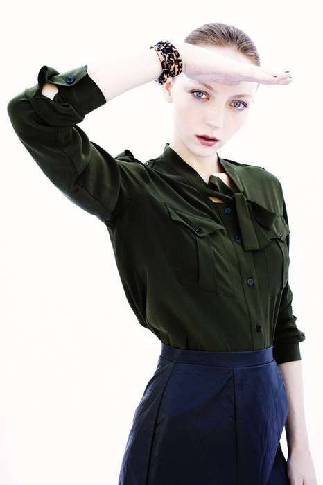 Hybrid Military Fashion - The Louise Van Der Vorst Grazia Editorial Salutes to Stunning Simplicity