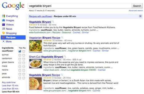 Culinary Search Engines