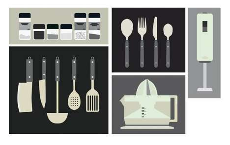 Artistic Appliance Illustrations - Esteve Padilla Creates Kitchen Utensil Illustrations