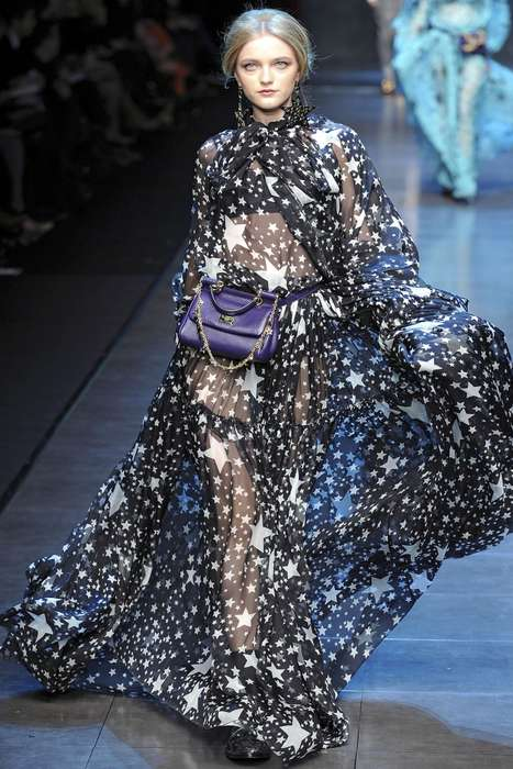 Floaty Celestial Fashions - Dolce & Gabbana Shines With Stars for Fall