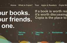 Bookworm Social Media Sites - The Copia Social Network Lets You Virtually Share Your Books