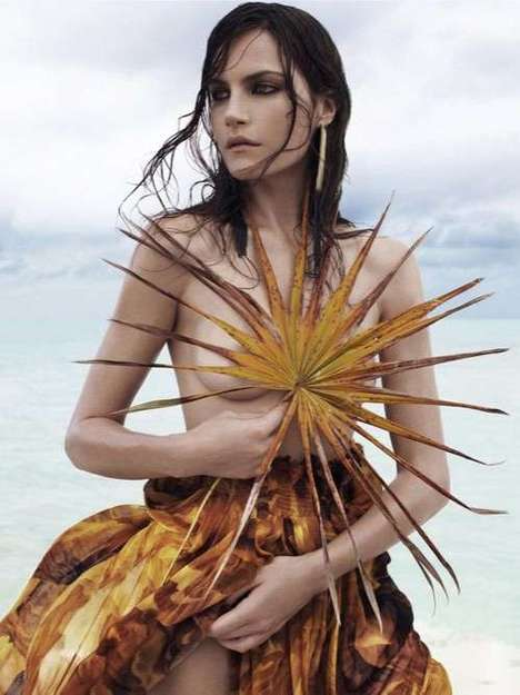 Sensual Shore Shoots - The Missy Rayder WSJ Magazine Editorial Gets Beached