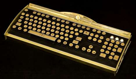 $2,800 Peripherals - The Opulent Datamancer New Yorker Art Deco Keyboard