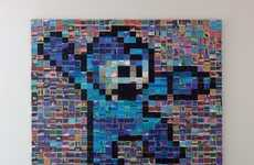 Gamer Screenshot Mosaics - The Mega Man Screenshot Mosaic is Made Up of 1,500 Snapshots
