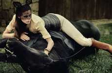 Ebony Equestrian Editorials - Boots & Saddles by Mark Segal has a Dark and Divine Disposition