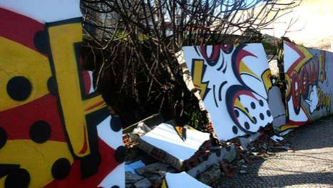 Exploding Street Art - Pantonio Car Crash Graffiti Turns a Crash Scene Into an Art Installation