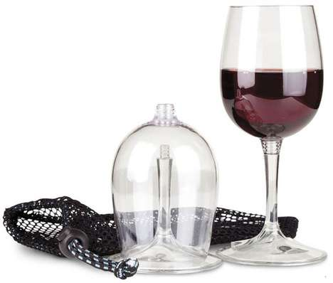 Collapsible Cups - The Stylish and Packable Travel Wine Glass Will Change the Way You Drink