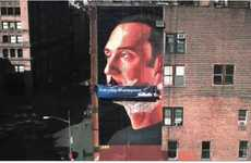 Massive Shaving Murals - Gillette Artistically Features The World's Biggest Shave