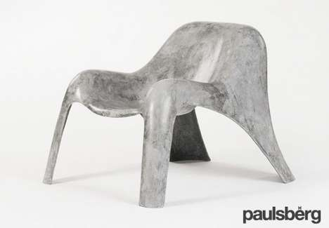 Marble-Mimicking Concrete Seats