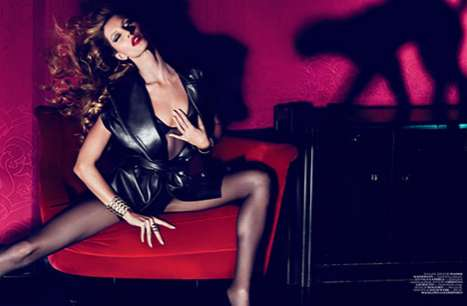 Racy Writhing Editorials - Gisele Bundchen Looks Fierce for Vogue Turkey