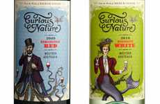 Half Human Branding - Curious Nature Wine Packaging Has a Peculiar Cross-Bred Look