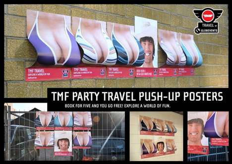 Bulging Bikini Campaigns - The Eye-Catching TMF Travel Push-Up Posters