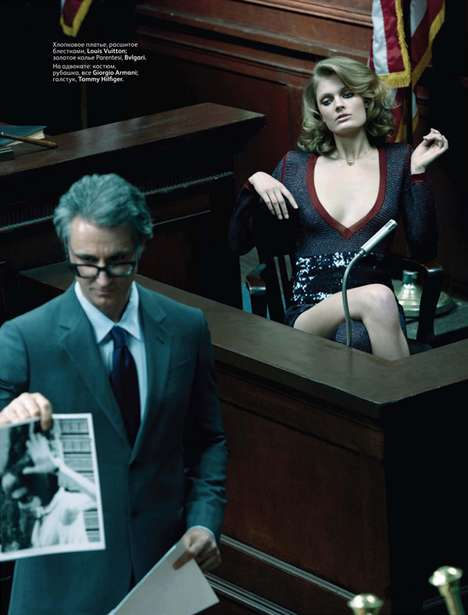 Hot Courtroom Shoots - The Glam Constance Jablonski Vogue Russia Editorial