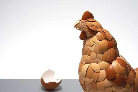 Eggstreme Chicken Sculptures