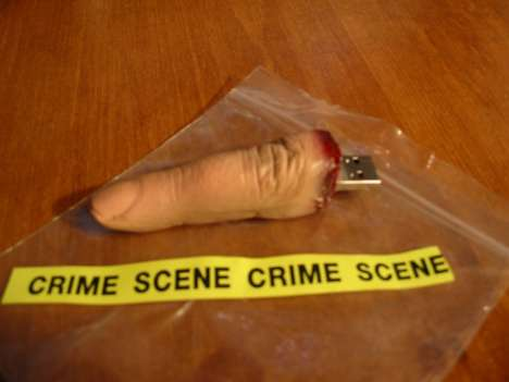 Macabre Memory Sticks - The USB Flash Drive Finger is Creepy and Cringe-Worthy