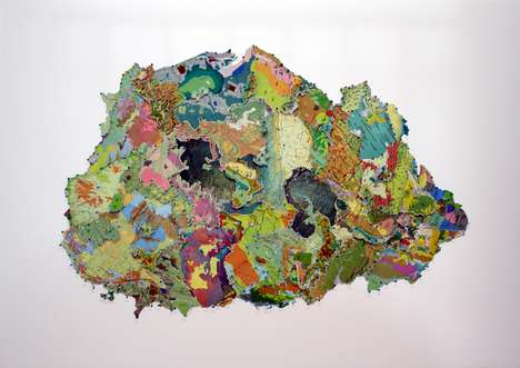 Creative Geographical Artworks - Rebecca Ross Creates Stunning Pieces of Art Using Atlas Maps