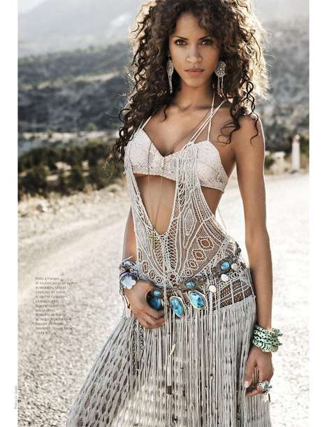 Decadent Desert Fashion - The Nomadic Noemie Lenoir in French Revue de Modes