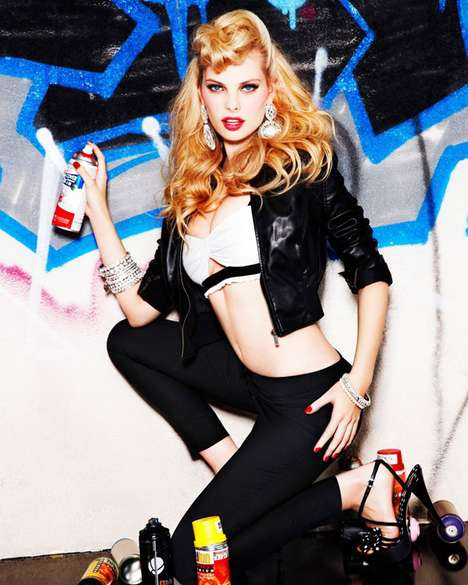 Pin-up Grafitti Girls - The Flirty Dioni Tabbers Bebe Spring Summer Campaign