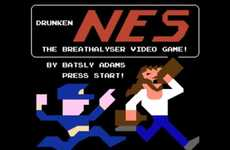 8-Bit Breathalyzer Games - The Drunker You are the Higher You Score in Drunken NES