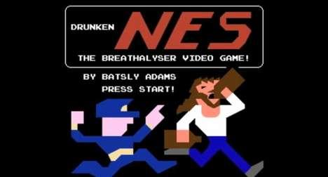 8-Bit Breathalyzer Games