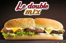 Two-Faced Sandwiches - Fast Food Chain Quick Combines Two Burgers into One With the Le Double Mix