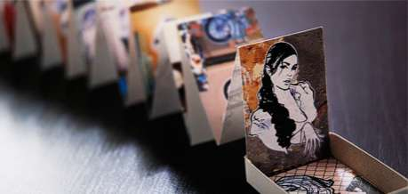 Matchbox Art Galleries - The Matchboox is a Collection of Folded Miniature Artwork