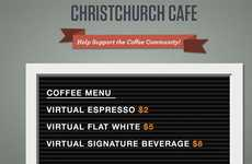 Virtual Charity Cafes - The Christchurch Cafe is an Ingenious Way to Aid Earthquake Victims