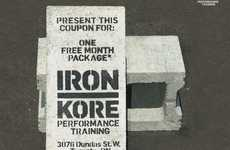Cinder Block Gym Vouchers - Muscles are Required to Use Iron Kore Concrete Coupons